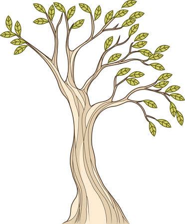 ilustración de la ilustración estilizada del árbol