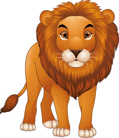 illustration of Cartoon lion character