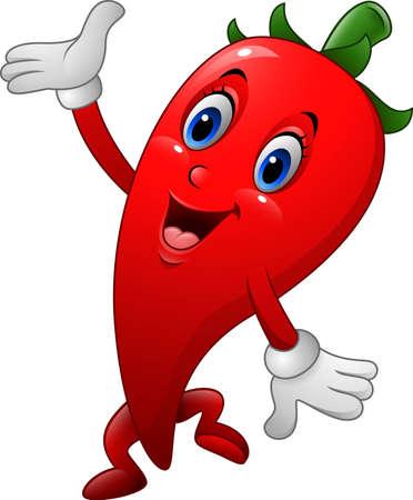 spicy mascot: illustration of Chili Cartoon Character