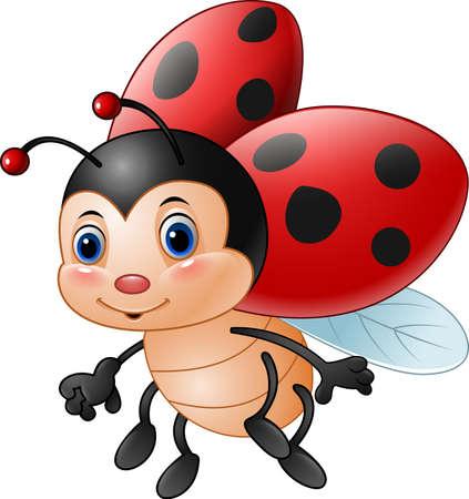 illustration of Cartoon funny ladybug