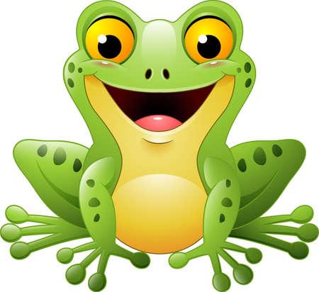 illustration of Cartoon cute frog Illustration
