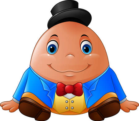 illustration of Cartoon Humpty Dumpty