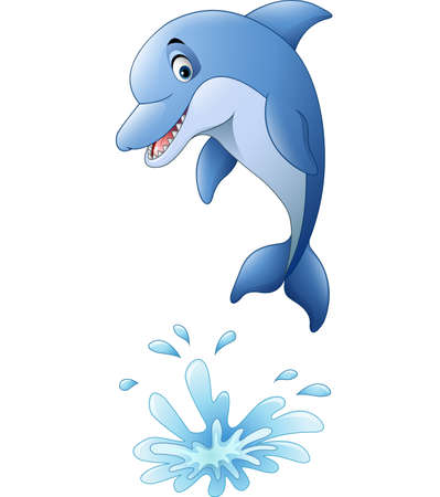 illustration of Cute dolphin cartoon Illustration