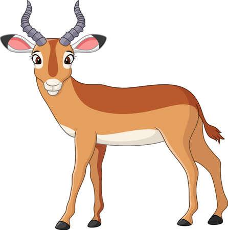 Vector illustration of Cartoon impala