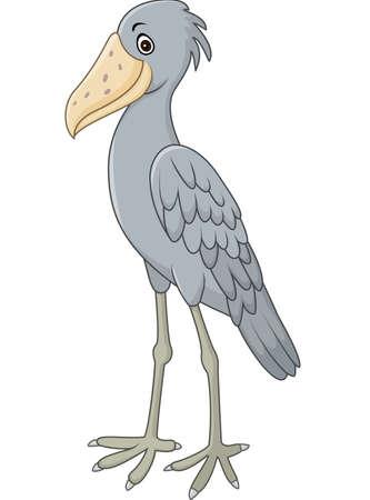 Vector illustration of Cartoon shoebill character