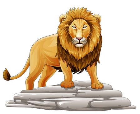 Vector illustration of Cartoon lion mascot Illustration