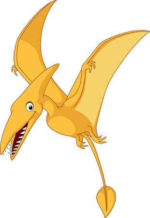 illustration of Cartoon pterosaurs