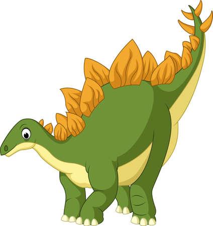 stegosaurus: illustration of Cartoon stegosaurus