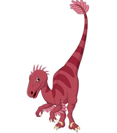 illustration of Cartoon velociraptor Illustration
