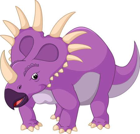 monstrous: illustration of Cartoon styracosaurus