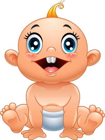 illustration of Cartoon cute baby Illustration