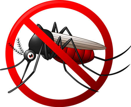 plague: illustration of Stop mosquito symbol Illustration
