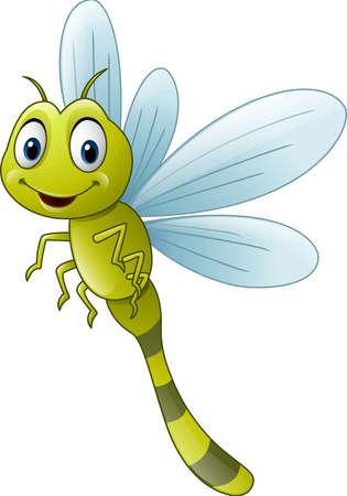 illustration of Cartoon dragonfly
