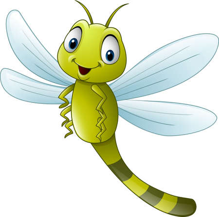 illustration of Cartoon dragonfly