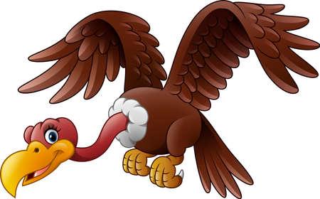 ilustración de dibujos animados de vuelo del buitre