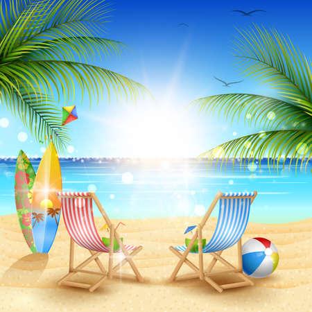 Piękne lato plaża tło