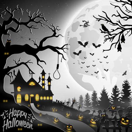 Vector illustration of Halloween background Illustration