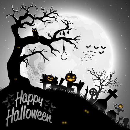 Halloween night background.