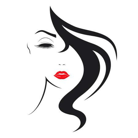 Women hair style icon Standard-Bild
