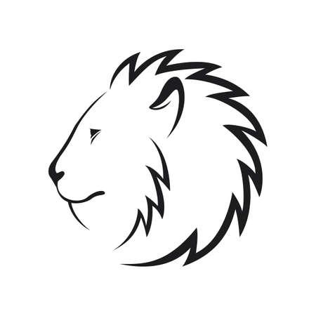 Lion head icon Stock Photo