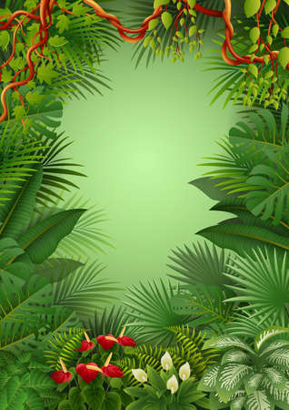 Tropical jungle background Reklamní fotografie