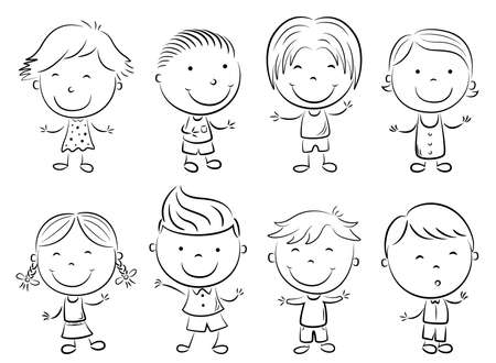 Happy kid cartoon doodle