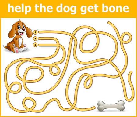 Help the dog get bone Illustration