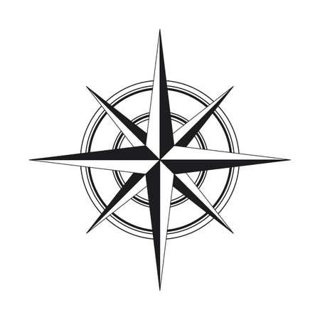 Icona della bussola isolati su sfondo bianco