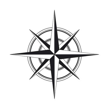 Compass icon isolated on white background