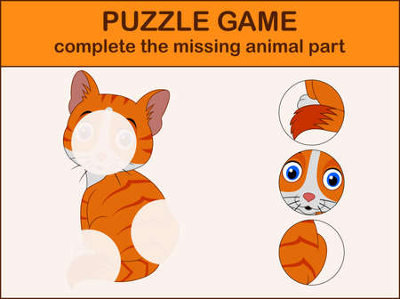 Complete the puzzle and find the missing parts of the picture