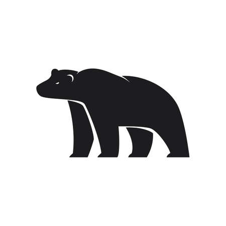 Polar Bear icon on white background Illustration