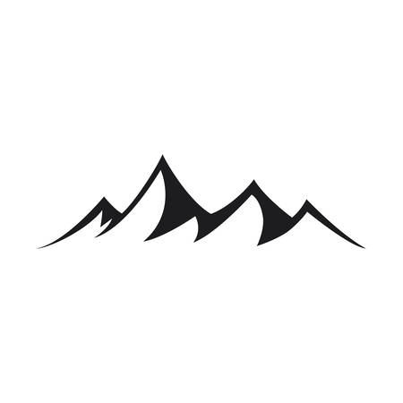 Mountain icons on white background 일러스트