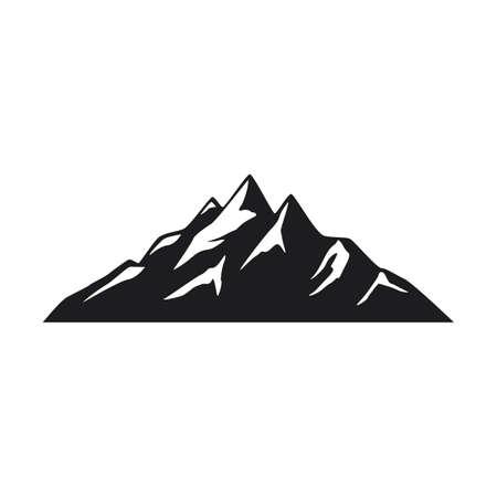 Mountain icons on white background Stok Fotoğraf