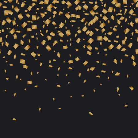 Golden confetti luxury festive on black background