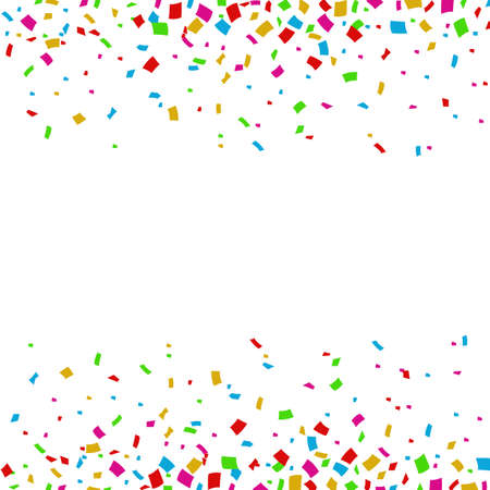 Colorful Confetti Falling On White Background