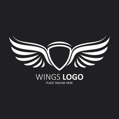 Winged white shield template