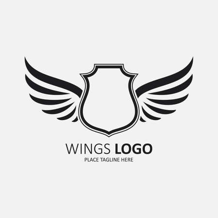 Winged shield black template