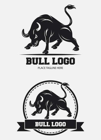 Bull icon design template