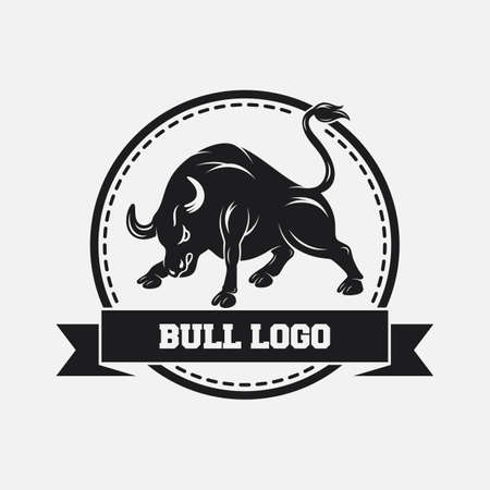 Black bull icon design template Stock fotó