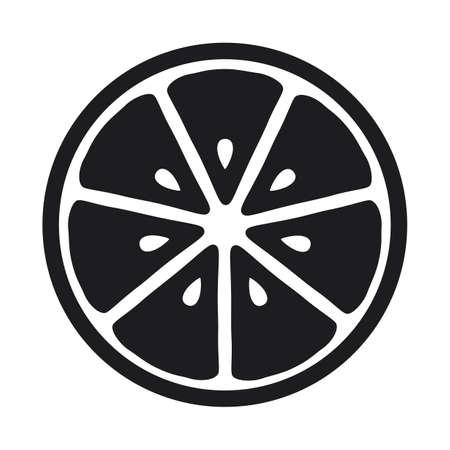 Lemon slice icon isolated on white background Illustration