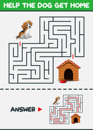 Maze Game: Help the dog get home