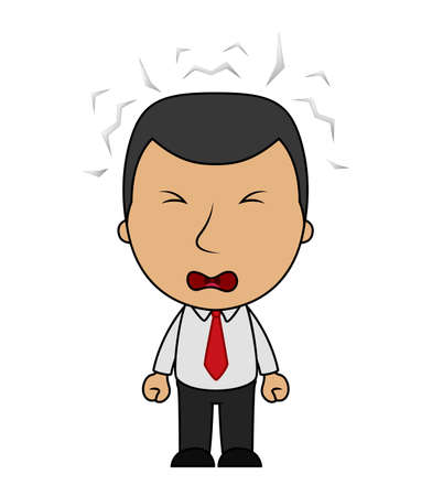 Businessman angry cartoon