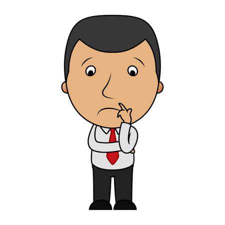 Cartoon sad businessman