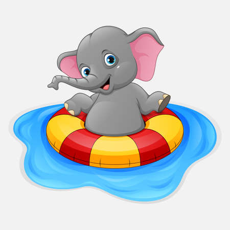 Elephant with inflatable ring