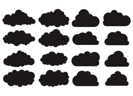 Clouds silhouettes set