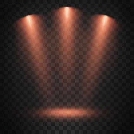 Spotlights on transparent background