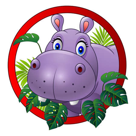 Cartoon hippo mascot Stock Photo