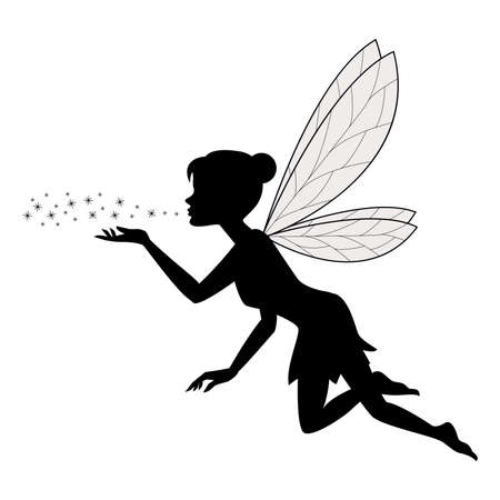 Cute fairy flying Banque d'images