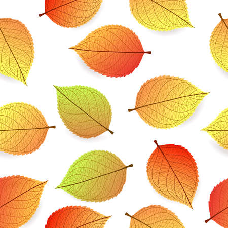 Background with stylized autumn leaves