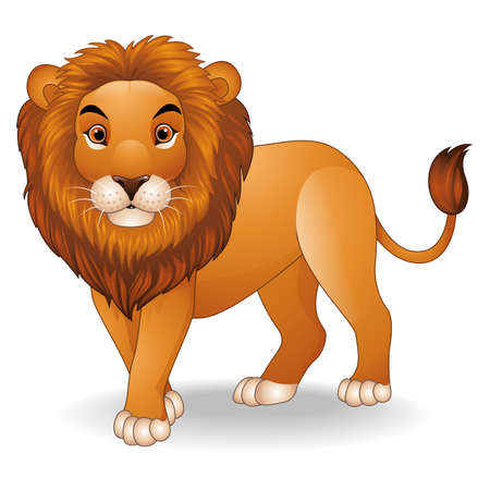 Cartoon lion character